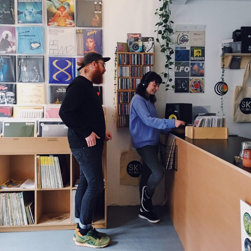 People browsing at SK1 Records.
