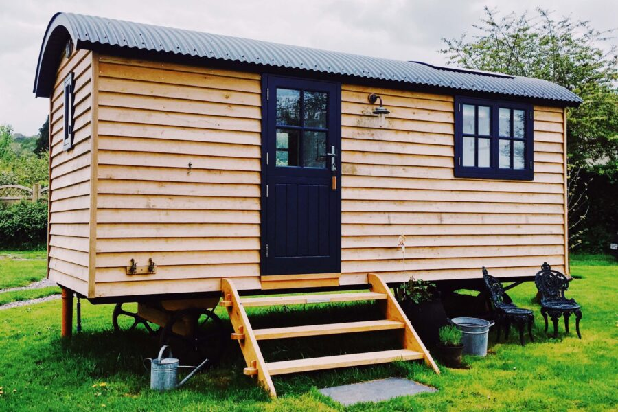Shepherd's Hut at Oak Tree Barn, Burrington.