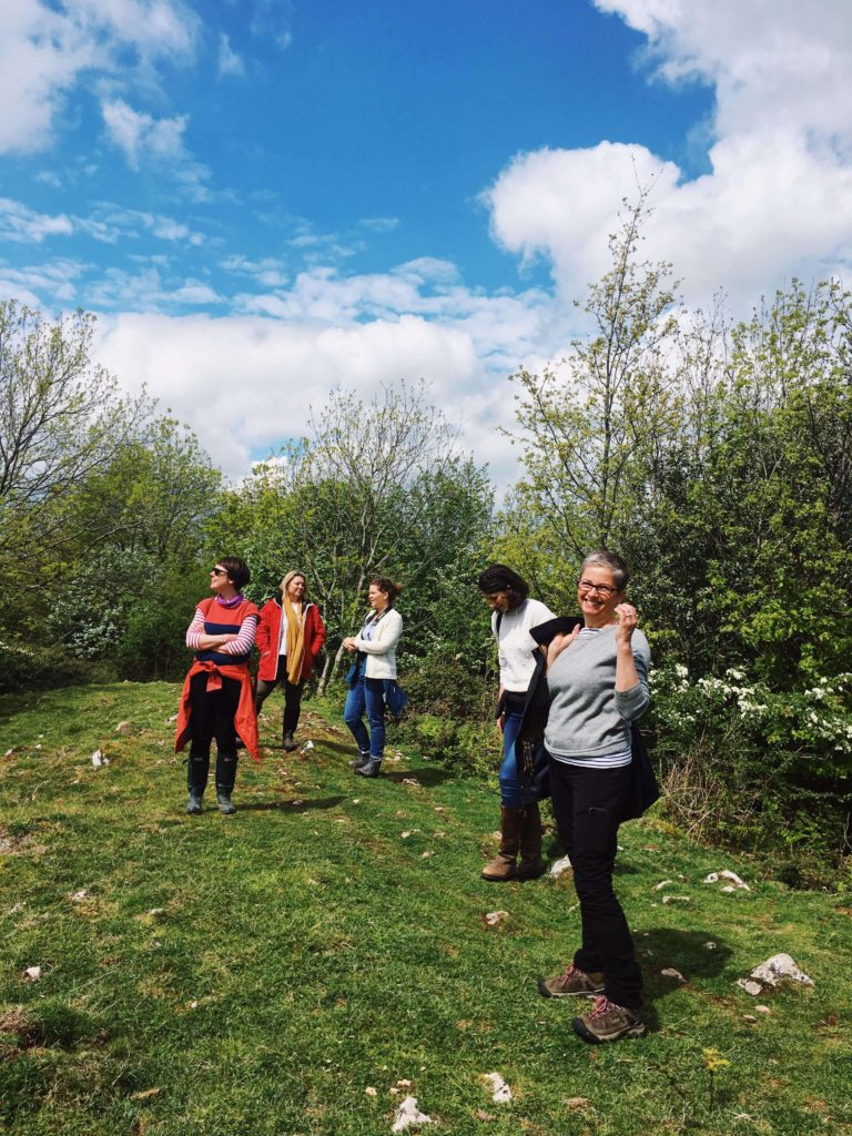 Group walk at the Nourish and Flourish day at Oak Tree Barn.
