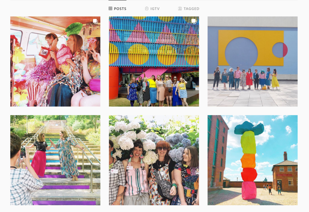 In Colourful Company Instagram grid.