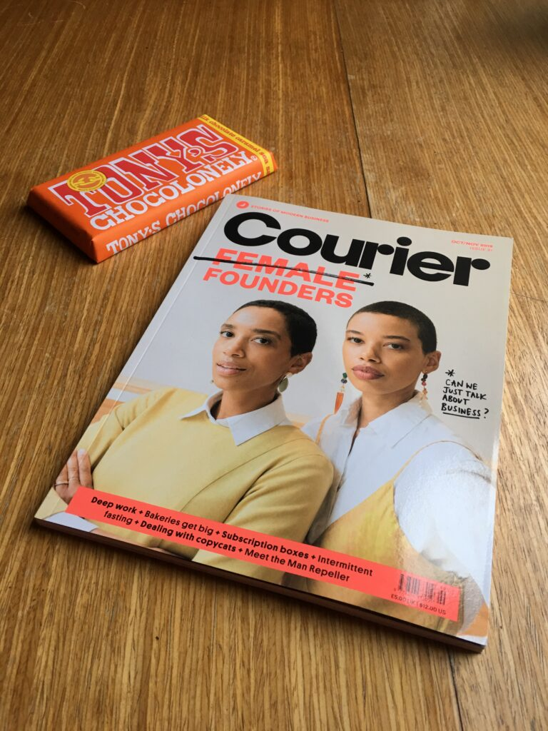 photo of chocoloney and courier magazine.